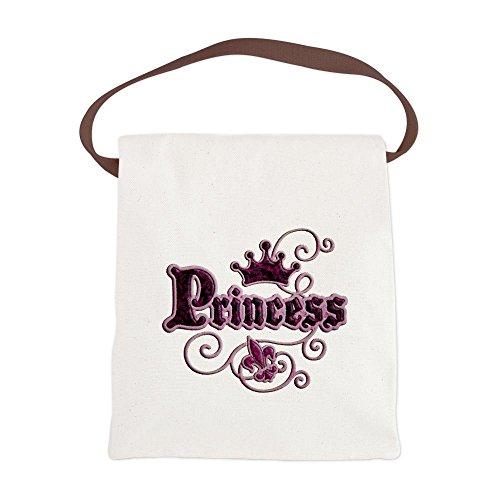 Canvas Lunch Bag Fleur De Lis Princess