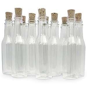 20botellas de plástico & Tapón de Corcho para mensaje en una botella invitaciones