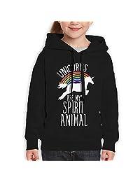 Teenager Pullover Hoodie Sweatshirt Unicorns Are My Spirit Animal Teen's Hooded For Boys Girls