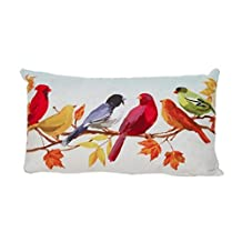 Mapletop Super Soft Colorful Birds Printed Pillow Case Cushion Covers