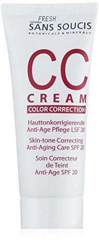 Sans Soucis CC Cream Color Correction Hauttonkorrigierende Anti-Age Pflege LSF 21 -für müde wirkende Haut-, 1er Pack (1 x 0.04 l)