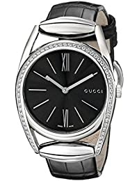 Horsebit Collection Analog Display Swiss Quartz Silver Women's Watch(Model:YA139403)