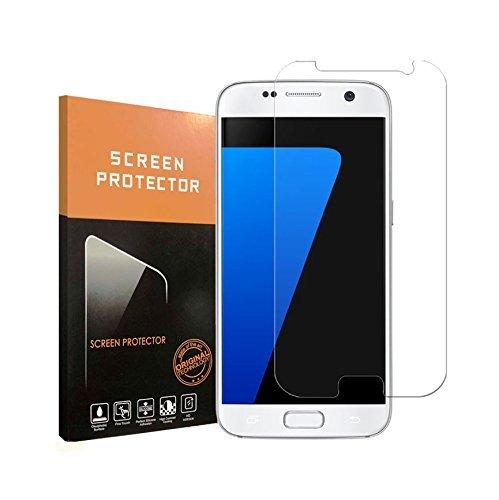 Galaxy S7 Tempered Glass Screen Protector,Film [HD Clear ][Anti-Fingerprint][Anti-Scratch][Bubble Free]Tempered Glass Screen Protector for Samsung Galaxy S7 (Galaxy S7)