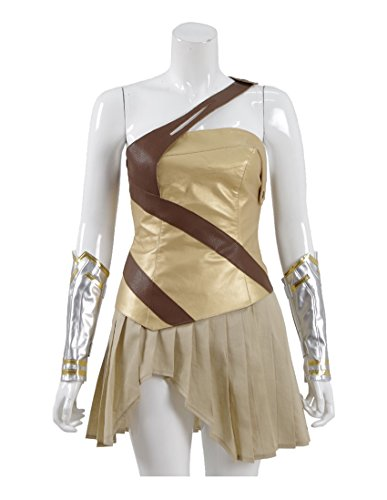 Good Female Comic Con Costumes (2017 Hot Movie Warrior Women Costume Golden Tops and Skirt Cosplay Outfit (US Women-XS, Golden))