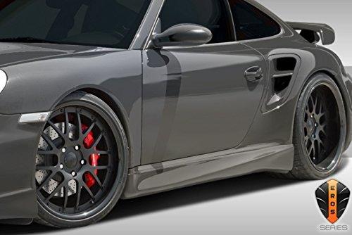 2 Piece Duraflex Replacement for 2005-2012 Porsche 911 Carrera 997 991 C4 C4S Turbo Eros Version 1 Side Skirts Rocker Panels