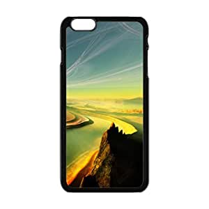 Personalized Creative Cell Phone Case For iPhone 6 Plus,winding mountains and rivers fancy landscape view