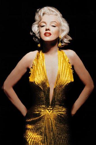 Marilyn Monroe - Gold Dress Art Print Poster