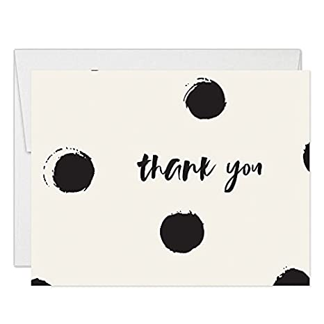 Modern Polka Dot Thank You Cards With Envelopes Pack Of 50 30th Birthday Anniversary
