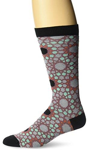 Ozone Men's Jeweled Tessellation Sock, Black, - Stocking Jeweled