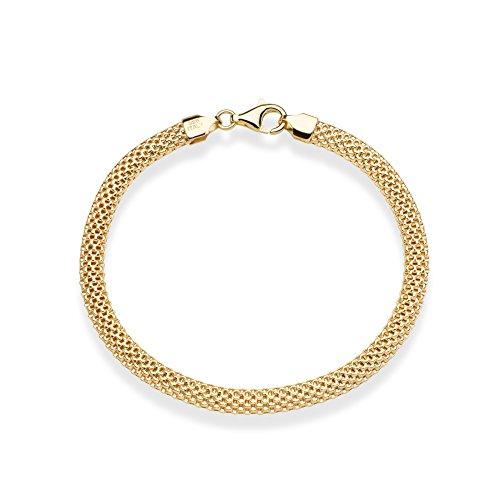 MiaBella 18K Gold over Sterling Silver Italian Mesh Chain Bracelet 7''-8'' (8) by MiaBella