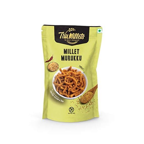 Trumillets |Healthy Millet Snack | Chakli / Murukku 125g (Pack of 2)