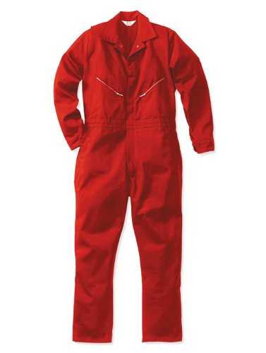 Walls Men's Work 100% Cotton CoverallsRed 36 Tall by Walls