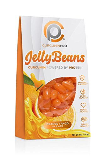 CurcuminPro Jelly Beans, 0.31 lbs All natural curcumin-enriched jelly bean! These tasty orange tangerine delights are powered by our curcumin-protein conjugate & made with real fruit, 5 Servings For Sale