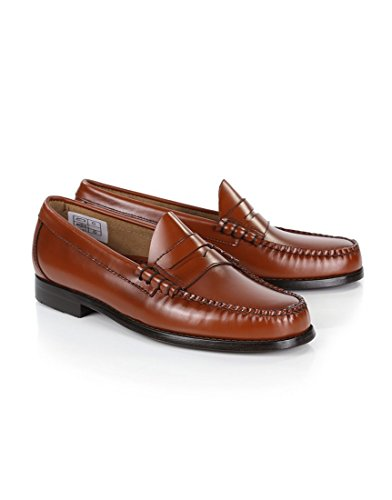 Brown Mens G.H. Bass Co. Men's Weejuns Larson Penny Loafers - Mid Brown Leather - 8.5