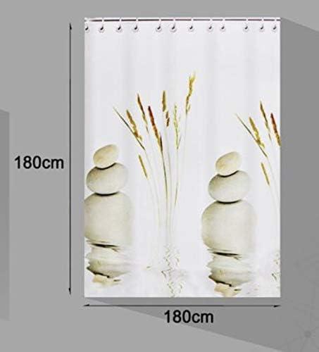 Resistente al Moho Impermeable EM HOME Cortinas de Ducha ba/ñera para ba/ño Anti Moho y Impermeables Estampado 14, 180 x 180 100/% Polyester