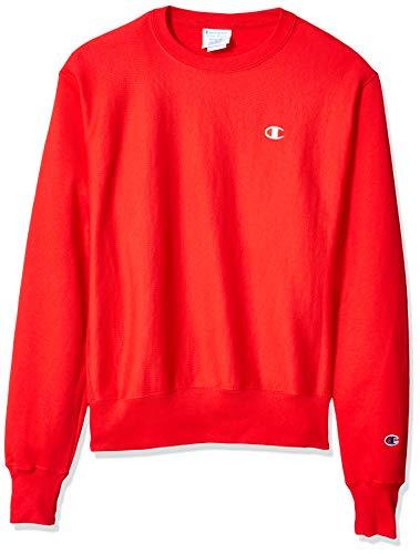 Champion LIFE Men's Reverse Weave Sweatshirt, Team Red Scarlet, Large