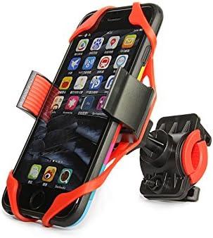 Soporte para bicicleta, soporte universal soporte abrazadera para IOS Android Smartphone GPS y otros dispositivos, con un solo botón en libertad, 360 grados de rotación, correa de caucho: Amazon.es: Deportes y aire
