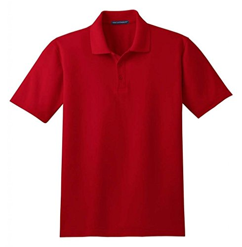 Port Authority Men's Tall Stain-Resistant Polo. 2XLT Burgundy