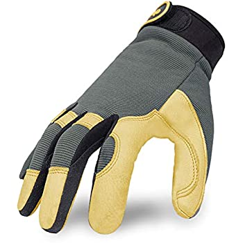 Intra-FIT Work Gloves, Genuine Deerskin Construction gloves,Soft, Improved Dexterity, Durable, Stretchable, Excellent for Labor protection, Mechanical, ...