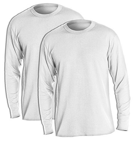 Duofold KMW1 Men's Midweight Thermal Crew Medium Winter White (Pack of 2) (Duofold Jersey Cotton)