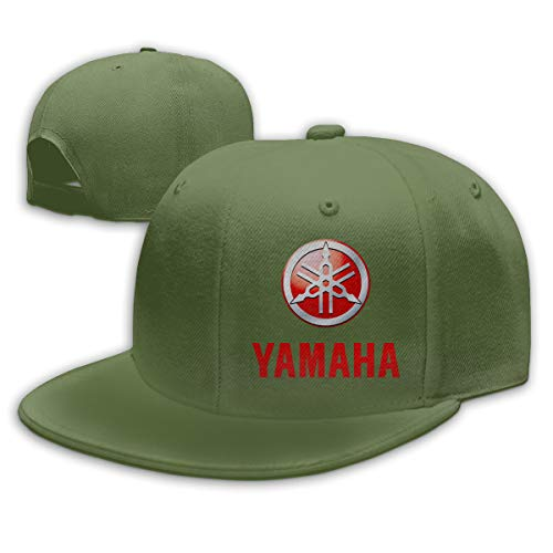 Adult Yamaha Logo Baseball Cap Unisex Adjustable Leisure Cap Moss Green One Size