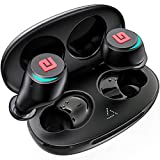 True Wireless Earbuds Bluetooth 5.0 Headphones, Dual Master Direct Connect in-Ear TWS Ear Buds IPX6 Waterproof Stereo Call/w Mic Instant Pair Low Latency Wireless Mini Headset Earphone 28H Cycle Play