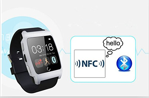 Original Uwatch Ux Smart Watch with Heart Rate Monitor Smart Watch Phone Bluetooth Watch with Heart Rate Sensor Perfectly Compatible with IOS & Android for IOS Android Apple Iphone 4/4s/5/5c/5s Samsung S2/s3/s4/note 2/note 3 HTC Sony Blackberry (Black)