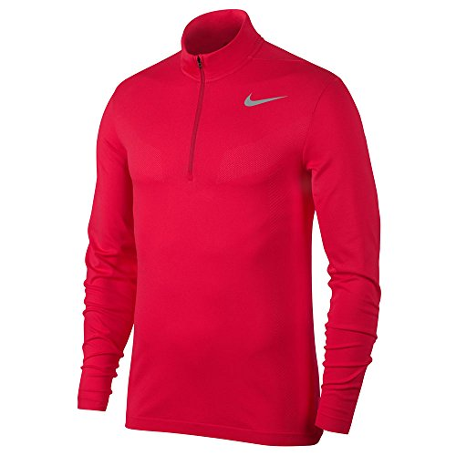 - Nike Dri Fit Knit 1/2 Zip Golf Pullover 2017 Siren Red/Sunblush/Flat Silver Large