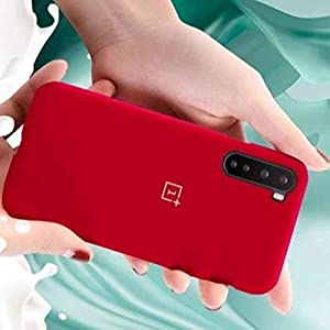 V-TAN-Pure Liquid Silicone Back Cover Case Compatible for OnePlus Nord-Red