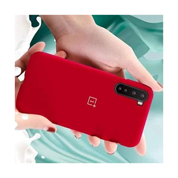 V-TAN-Pure Liquid Silicone Back Cover Case Compatible for OnePlus Nord-Red 2021 August Made of Premium Soft Silicon Material, Smooth Silicon Layer feels very soft in hands and provides good grip. Shockproof Corners for ultimate drop protection. Raised Edge for both screen and camera protection.