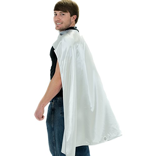 Silver Cape Costume (Everfan Men's Polyester Satin Superhero Cape (38