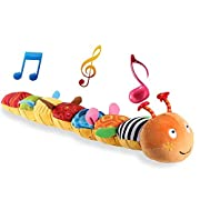 LIGHTDESIRE Musical Toy Caterpillar, Crinkle Rattle Soft with Ring Bell Toddler Plush for Preschool Kid