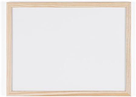 Bi-Office Budget - Pizarra blanca con marco de madera, 40 x 30 cm, no magnética