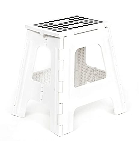 Phenomenal Kikkerland Rhino Tall Folding Step Stool White Unemploymentrelief Wooden Chair Designs For Living Room Unemploymentrelieforg