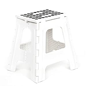 Amazon Com Kikkerland Rhino Tall Folding Step Stool