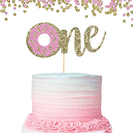 Terrific Donut Cake Topper For Baby Kids First Birthday Cake Decoration Funny Birthday Cards Online Alyptdamsfinfo