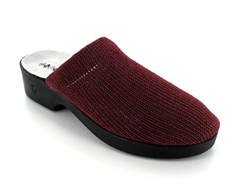 Codeor - Zuecos de nailon para mujer rojo - borgoña