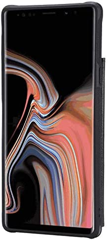 Samsung Galaxy S9 Plus プラス レザー ケース, 手帳型 サムスン ギャラクシー S9 Plus プラス 本革 カバー収納 耐摩擦 ビジネス 財布 携帯ケース 無料付スマホ防水ポーチIPX8