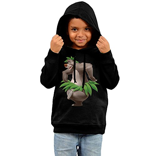 [KYY Kid's The Jungle Book Bear Baloo Boy's & Girl's Sweatshirt Black Size 4 Toddler] (The Jungle Book Baloo Costume)