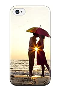 Best High Quality Couple Kissing Under Umbrella Case For Iphone 4/4s / Perfect Case 5958606K97383388
