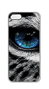 High Quality Diy case Of Watercolor customized Bumper Plastic iphone 5 cases for boys - Blue eyed leopard