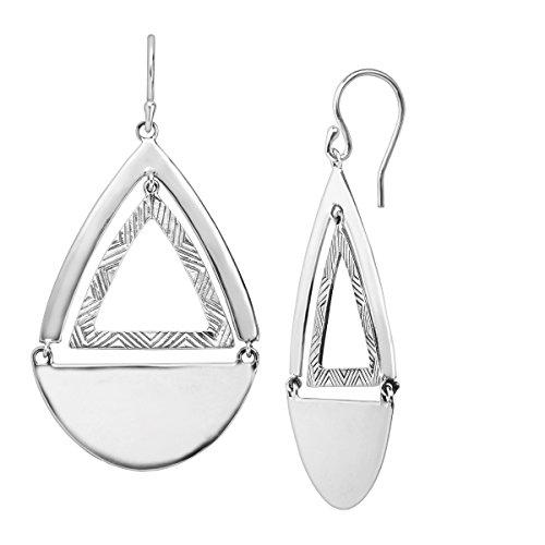 Silpada 'Good Shape' Cut-Out Hinged Drop Earrings in Sterling Silver