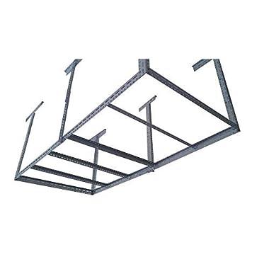 bigbear iron 48 x96  Heavy Duty Garage Storage Ceiling Rack Length&Height Adjustable /6 Legs Weight Limited 1000 lbs