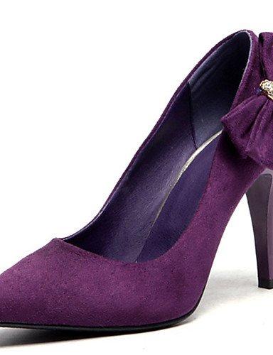 GGX/Damen Schuhe Stiletto Heel Spitz Zulaufender Zehenbereich Schleife Strass Pumpe mehr Farbe erhältlich black-us3.5 / eu33 / uk1.5 / cn32