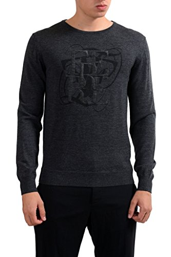 gianfranco-ferre-mens-gray-100-wool-crewneck-pullover-sweater-us-m-it-50