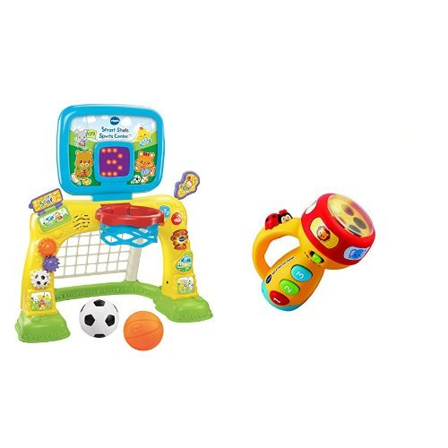 Vtech Smart Shots Sports Center and Spin and Learn Color Flashlight Bundle