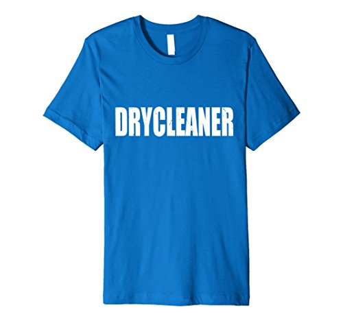 Mens Drycleaner T Shirt Halloween Costume Funny Cute Distressed Medium Royal (Dry Cleaner Costume)