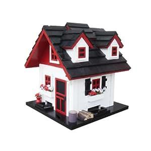 Home Bazaar Cherry Hill Feeder-White/Red/Black