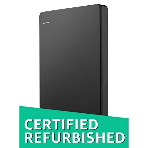 Seagate Backup Plus Slim 2TB Portable 2.5-Inch External Hard Drive with Mobile Device Backup USB 3.0 (Black) STDR2000300 (Certified Refurbished)