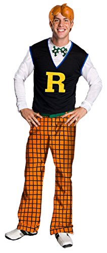 Rubies Mens Tv & Movie Characters Archie Comics Party Fancy Costume, Standard (up to 44) (Archie Comic Character Costumes)